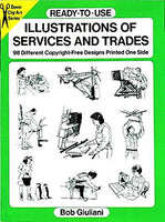 Ready-to-Use Illustrations of Services and Trades: 98 Different Copyright-Free Designs Printed One Side (Dover Clip Art Ready-to-Use)