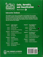 Holt Science & Technology: Interactive Textbook C: Cells, Heredity, and Classification