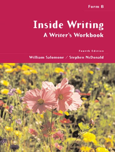 Inside Writing: A Writers Workbook, Form B