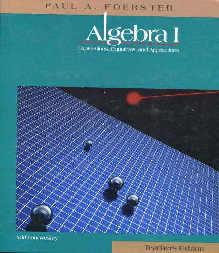 Algebra I, Teacher'S Edition