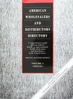 American Wholesalers and Distributors Directory: A Comprehensive Guide Offering Industry Details on Approximately 28,000 Wholesalers and Distributors in the United States