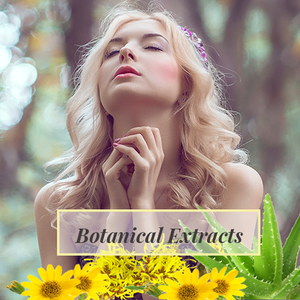 Lady enjoying products with Botanical Extracts Ingredients