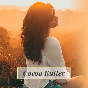 after put on cocoa butter product, lady enjoying sunshine