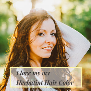 Lady show off her hair by using Herbatint Hair color.