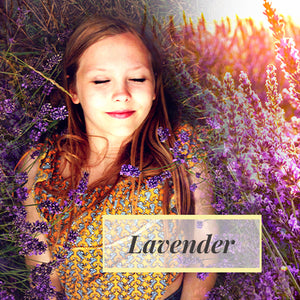 Lady using Lavender for her facial treatment product