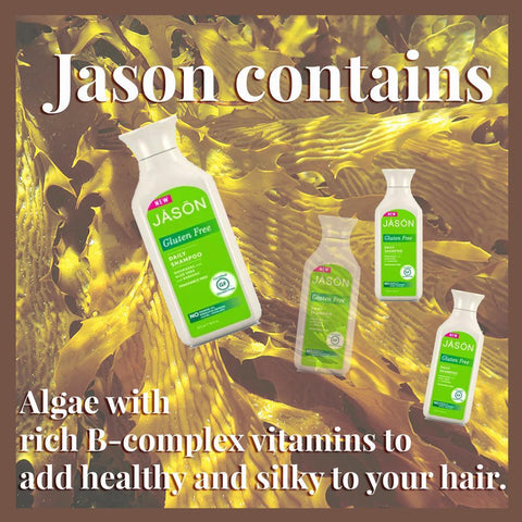 Jason contains Algae with  rich B-complex vitamins to  add healthy and silky t
