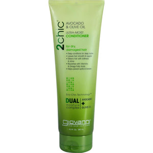 Giovanni Hair Care Products - 2Chic Avocado And Olive Oil Conditioner ( 2 - 8.5 FZ)-BHA