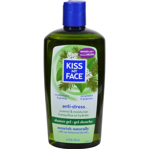 Kiss My Face - Anti-Stress Woodland Pine And Ginseng Bath And Shower Gel ( 2 - 16 FZ)-BHA