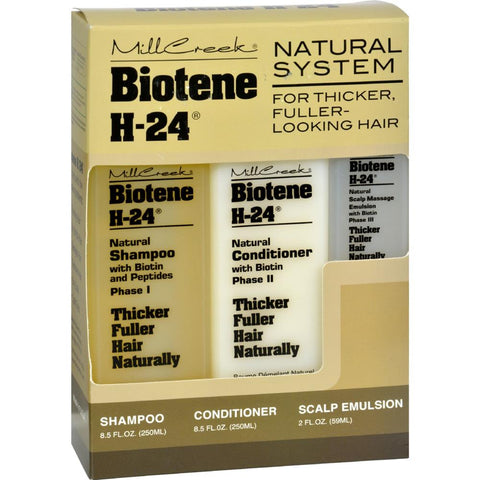 Mill Creek - Biotene H-24 Tri-Pack Shampoo Conditioner Scalp Emulsion ( 1 - 3 Pack)-BHA