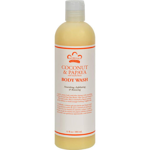 Nubian Heritage - Coconut And Papaya Body Wash ( 1 - 13 FZ)-BHA