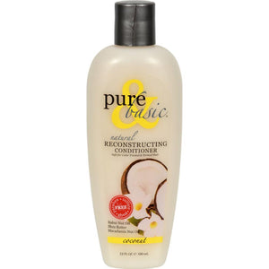 Pure and Basic - Coconut Natural Reconstructing Conditioner ( 2 - 12 FZ)-BHA