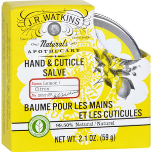 J.R. Watkins - Hand And Cuticle Salve - Lemon ( 2 - 2.1 OZ)-BHA