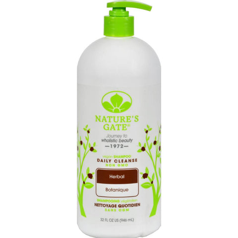 Nature's Gate - Herbal Daily Cleansing Shampoo ( 2 - 32 FZ)-BHA