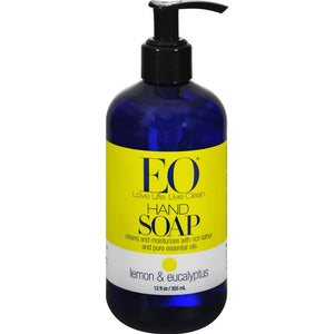 Lemon And Eucalyptus Liquid Hand Soap ( 2 - 12 FZ)-BHA