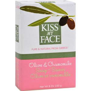 Kiss My Face - Olive And Chamomile Bar Oap ( 4 - 8 OZ)-BHA