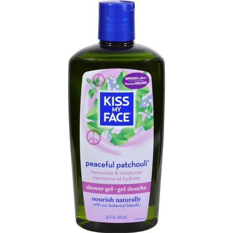 Kiss My Face - Peaceful Patchouli Bath And Shower Gel ( 2 - 16 FZ)-BHA