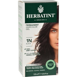 Herbatint - Permanent Herbal Haircolour Gel 1N - Black ( 1 - CT)-BHA