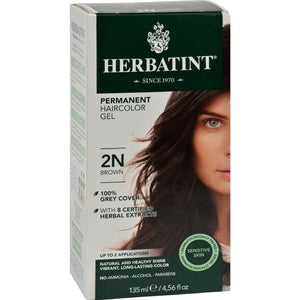 Herbatint - Permanent Herbal Haircolour Gel 2N - Brown ( 1 - CT)-BHA
