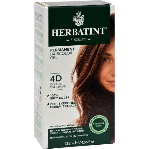 Herbatint - Permanent Herbal Haircolour Gel 4D - Golden Chestnut ( 1 - CT)-BHA