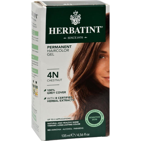 Herbatint - Permanent Herbal Haircolour Gel 4N - Chestnut ( 1 - CT)-BHA