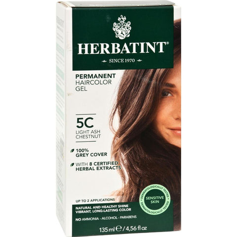 Permanent Herbal Haircolour Gel - 5C Light Ash Chestnut ( 1 - CT)-BHA