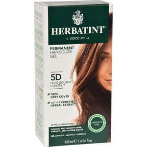 Herbatint - Permanent Herbal Haircolour Gel 5D - Light Golden Chestnut ( 1 - CT)-BHA