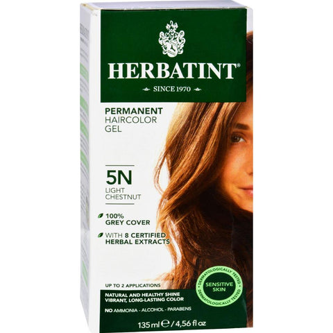 Herbatint - Permanent Herbal Haircolour Gel 5N - Light Chestnut ( 1 - CT)-BHA