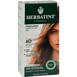 Herbatint - Permanent Herbal Haircolour Gel 6D - Dark Golden Blonde ( 1 - CT)-BHA