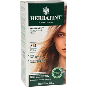 Herbatint - Permanent Herbal Haircolour Gel 7D - Golden Blonde ( 1 - CT)-BHA
