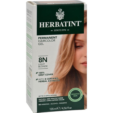 Herbatint - Permanent Herbal Haircolour Gel 8N - Light Blonde ( 1 - CT)-BHA