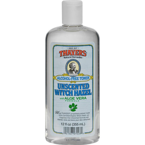 Thayers - Witch Hazel With Aloe Vera Unscented ( 2 - 12 FZ)-BHA