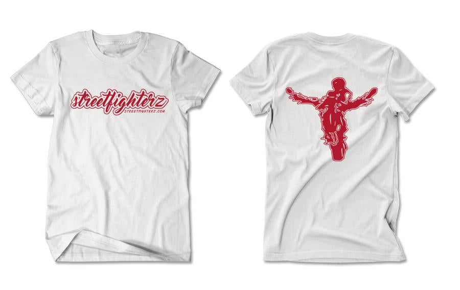 T-SHIRT - STREETFIGHTERZ CURSIVE (RED PRINT)