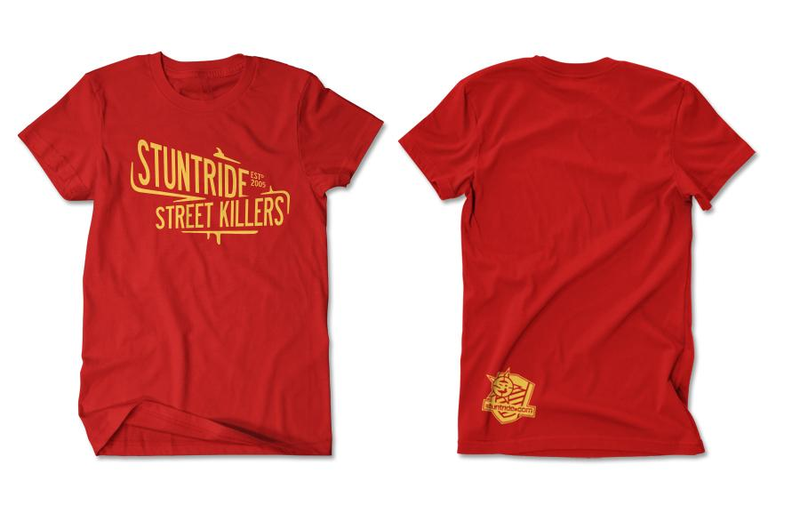 T-SHIRT - STREET KILLER (GOLD-PRINT)