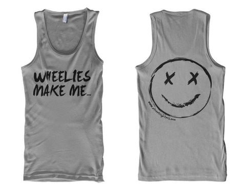TANK - WHEELIES MAKE ME SMILE (BLACK PRINT)