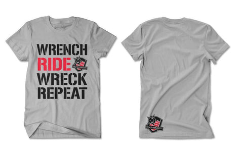 T-SHIRT - WRENCH RIDE WRECK REPEAT