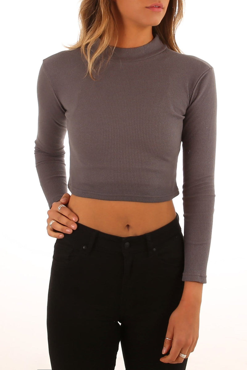 Mylsy Long Sleeve Top Charcoal All About Eve - Jean Jail