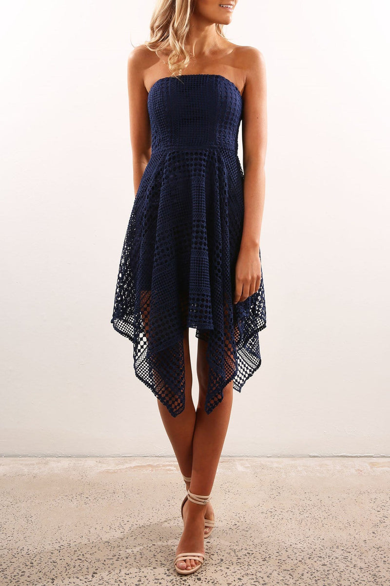 Jeanna Dress Navy Jean Jail - Jean Jail
