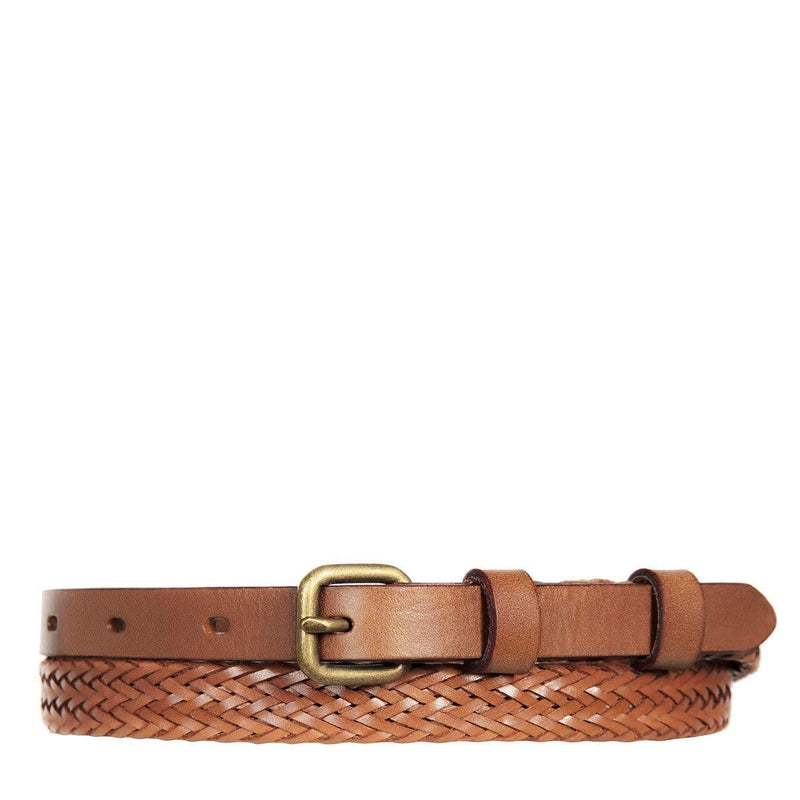 Only Lovers Left Plaited Belt Tan Status Anxiety - Jean Jail