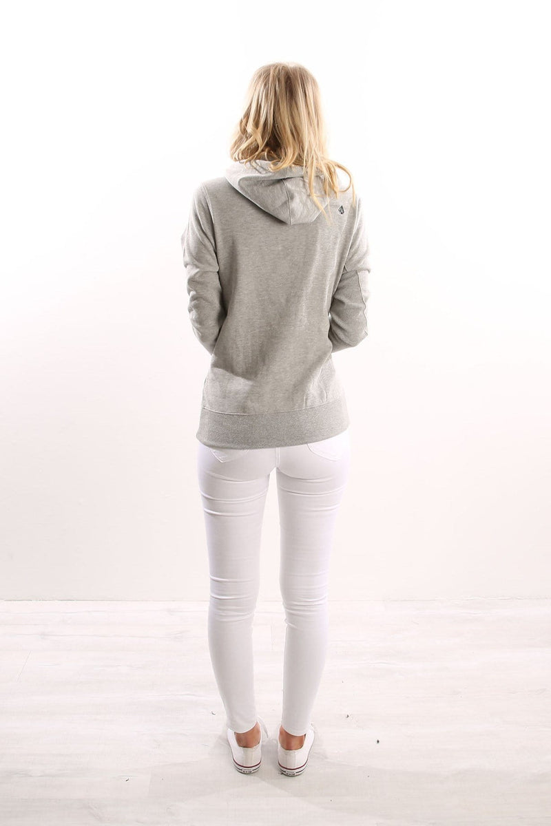 Slidin Hoody Heather Grey Volcom - Jean Jail