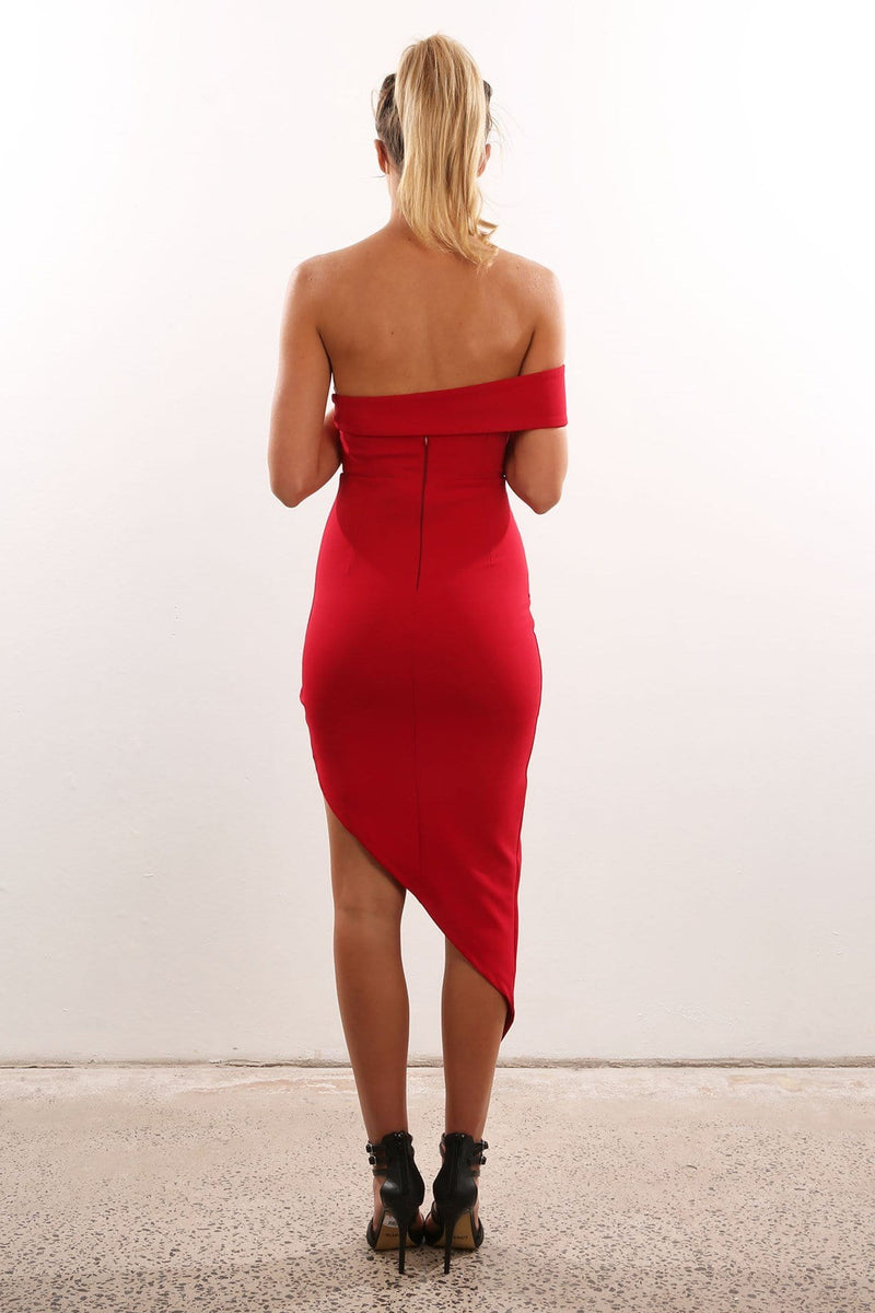 Elegant Dress Red Jean Jail - Jean Jail