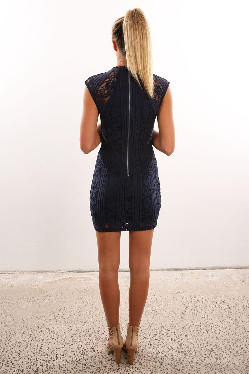 Finnigan Dress Navy Jean Jail - Jean Jail
