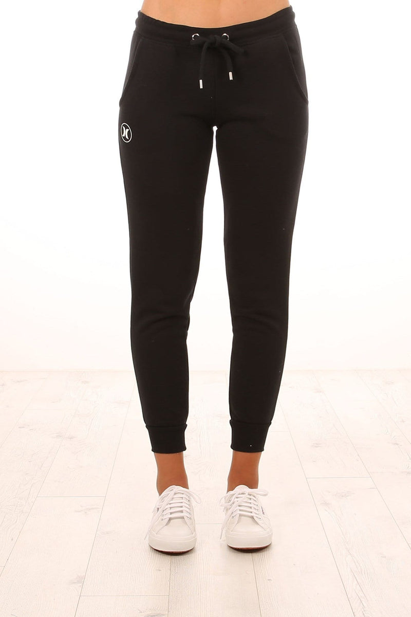 Icon Cuffed Track Pant Black White Hurley - Jean Jail