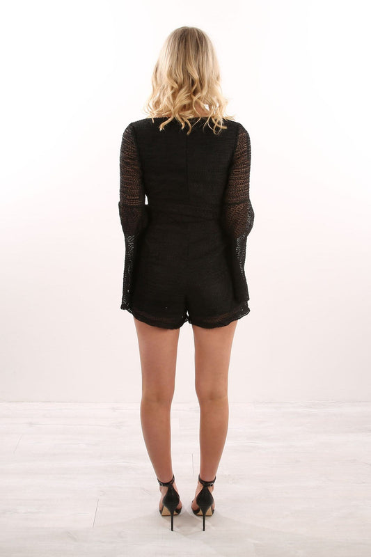 Cerese Playsuit Black