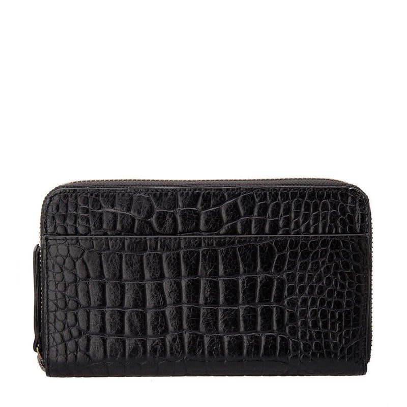 Delilah Wallet Black Croc Emboss Status Anxiety - Jean Jail