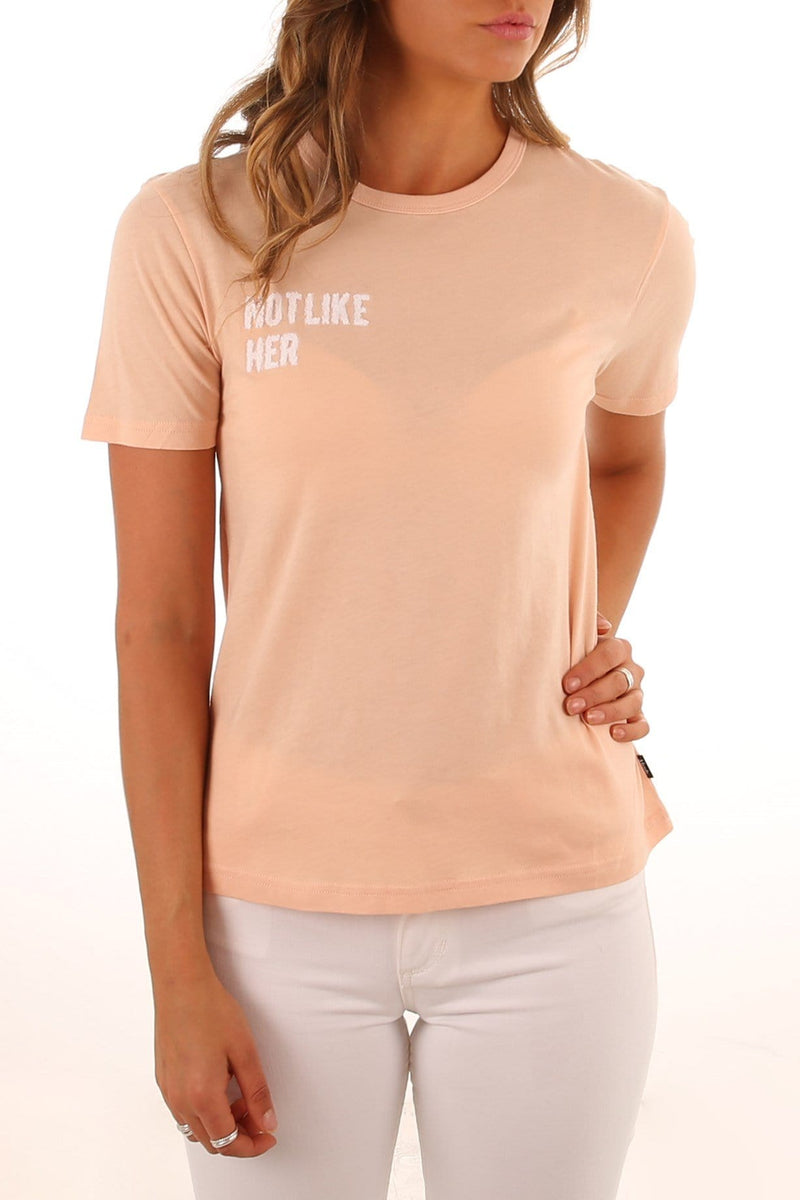 Not Like Her Fashion Fit Tee Washed Peach Afends - Jean Jail
