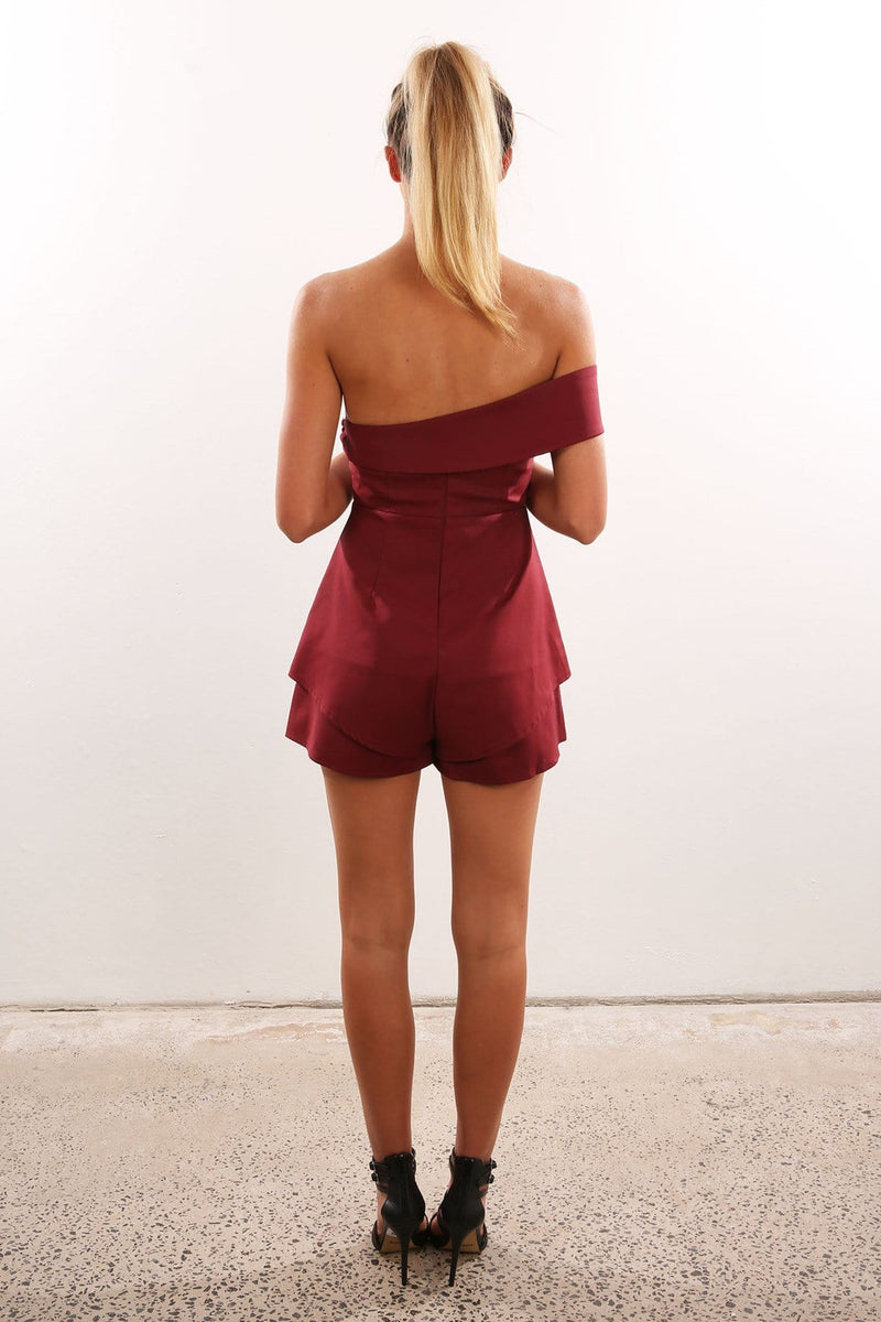 Cant Touch This Playsuit Maroon Jean Jail - Jean Jail