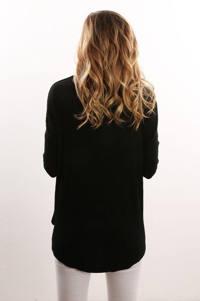Feature Long Sleeve Tee Black All About Eve - Jean Jail