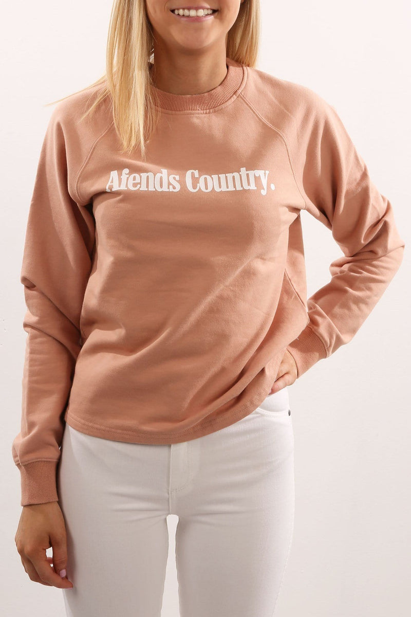 A Ctry Crew Neck Sweat Blush Afends - Jean Jail