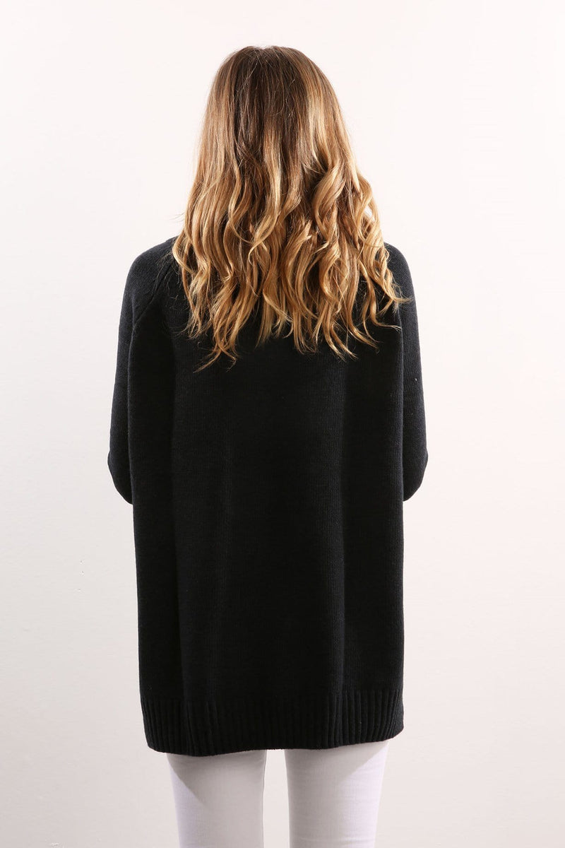 Roll Neck Knit Deep Ink Navy