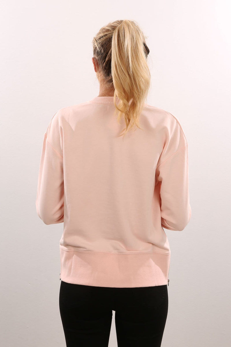 Peridot Zip Side Sweater Pale Pink Nude Lucy - Jean Jail